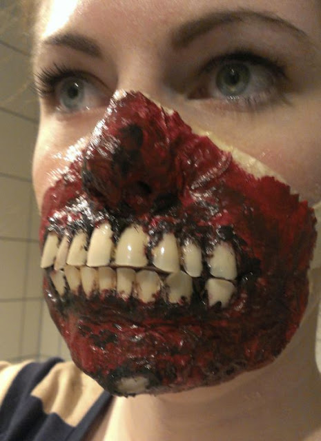 Zombie makeup latex