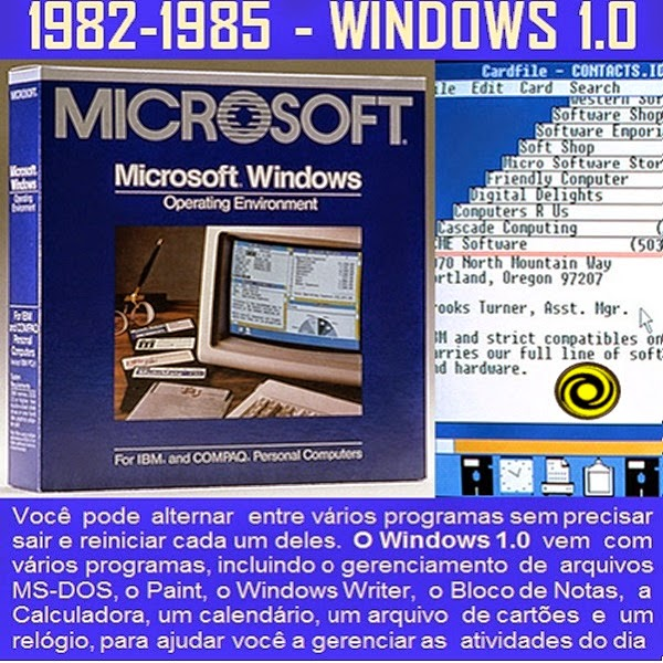 1982–1985: Apresentando o Windows 1.0