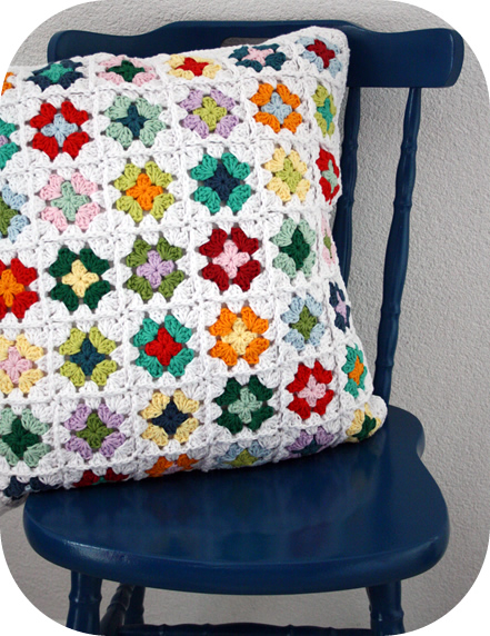 pillow cover granny squares