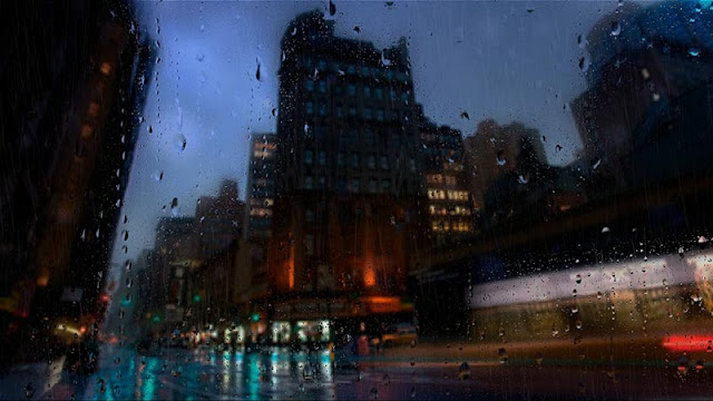 The City in The Rain Wallpaper Engine