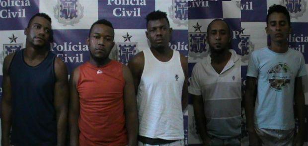 Homens presos durante a operação policial (Foto: Divulgação/ Polícia Civil)