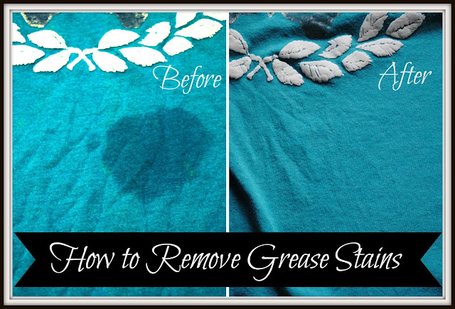 Hoe To Easily Remove Grease Stains At Home