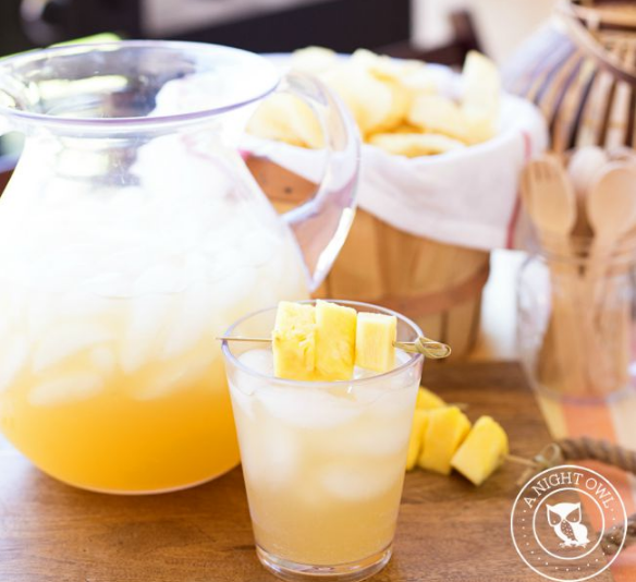 Pineapple Rum Punch #drink #delicious