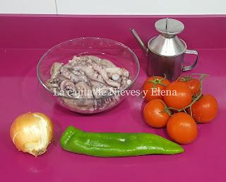 Ingredientes Fritillo de pulpo