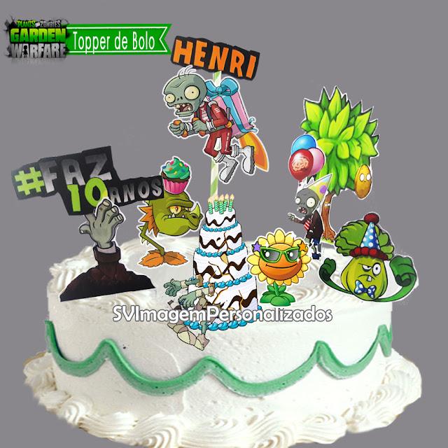 O Preço mais barato para topper de bolo no tema no tema Plants vs Zombies,, o Game mais queridos entre os meninos, agora na decoração de sua festa, na cor verde e laranja, os convidados terão que escolher um lado.. Plantas ou Zumbis.. não importa o lado, essa festa será o maior sucesso
