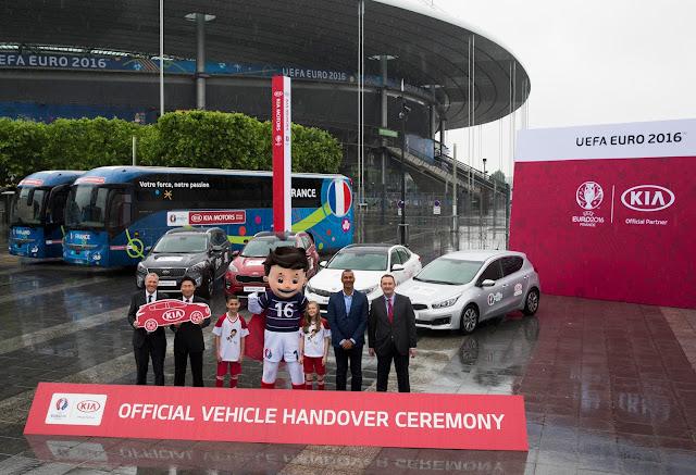 KIA presenta su flota para la Euro 2016