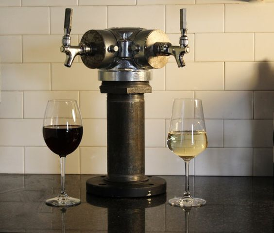 Let it flow Custom Tapped Wine Tower by TappedBeer