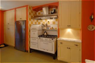 decoración cocina naranja