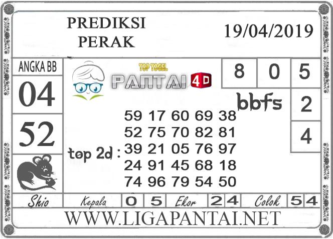 """Prediksi Togel """"PERAK"""" PANTAI4D 19 APRIL 2019"""