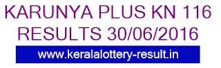 Karunya Plus KN 116 Lottery result, Kerala Karunya plus KN116 lottery, Today's Karunya Plus KN-116 lottery, Lottery result KN 116 today, Karunya Plus-KN 116, Karunya Plus Lottery result 30-6-2016, Kerala Bhagya kuri KN116 results today 30/6/2016, Kerala Karunya Plus Lottery results today 30-6-2016