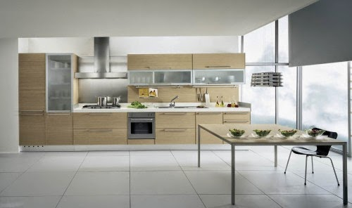 single line kitchen set