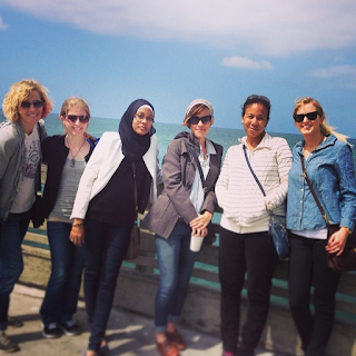 2013: Debra Driza, Kate, Somaiya, Kirsten, Stephanie Kuehn, and Sarah exploring San Diego