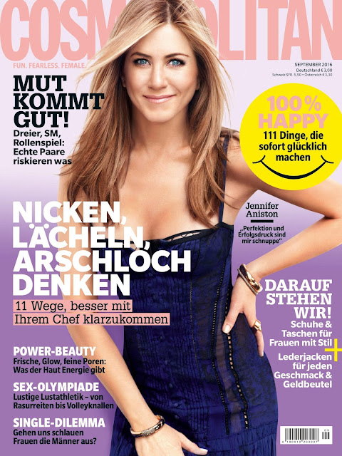 Actress, @ Jennifer Aniston - Cosmopolitan Germany September 2016