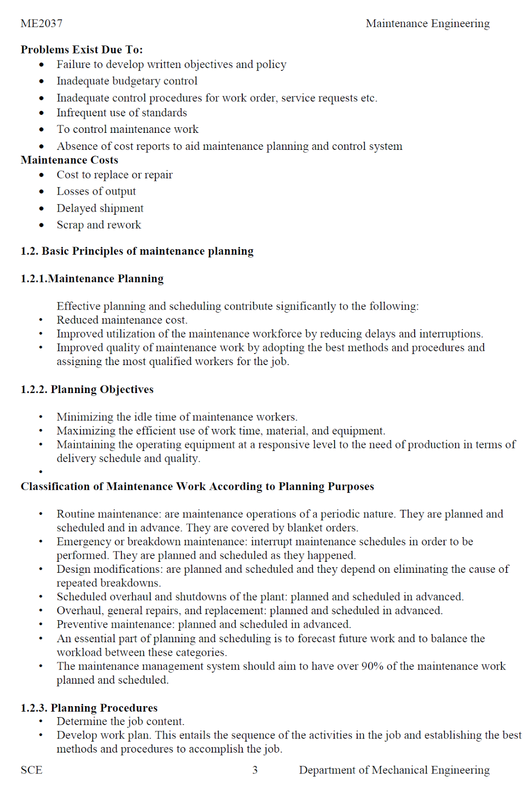 Planning and control notes pdf production