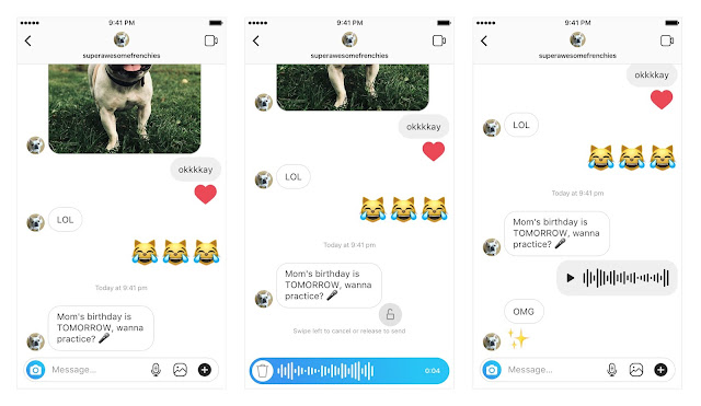 Instagram launch voice Messaging