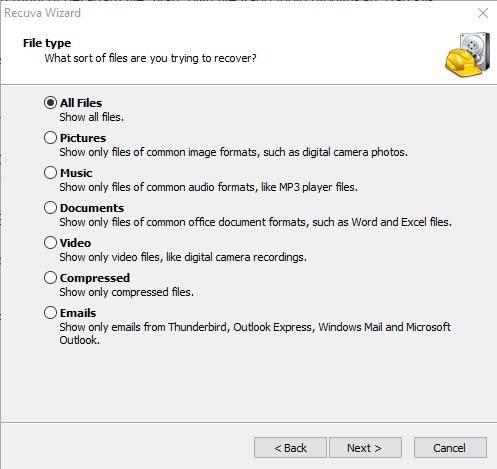 ilih File yang akan kamu kembalikan
