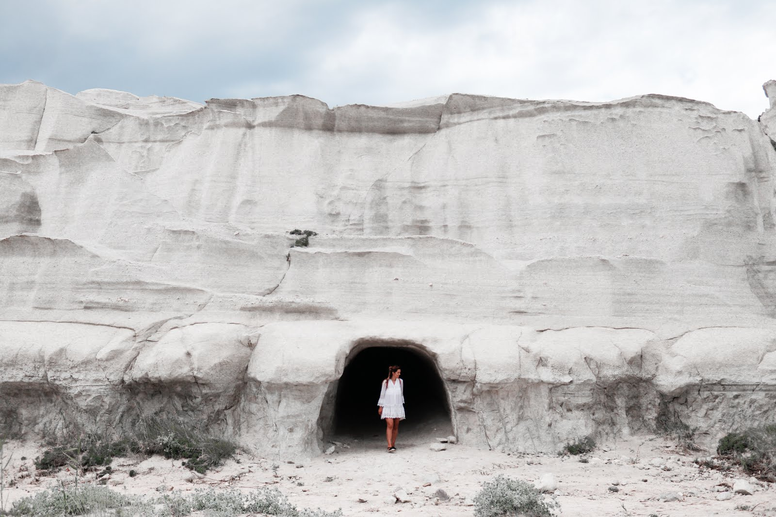 Sarakiniko Beach Mines in Milos island, Greece