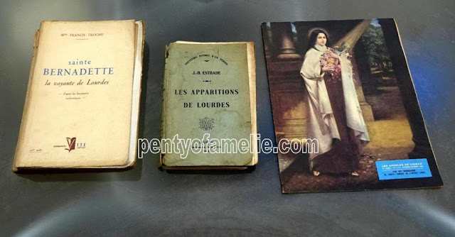Vintage Rare Illustrated Books. St. Bernadette Soubirous of Lourdes, The Apparitions at Lourdes, History of St Therese of Lisieux