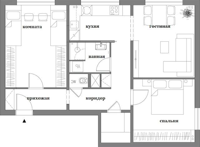 Ремонт квартиры позволил переместить кухню под окно