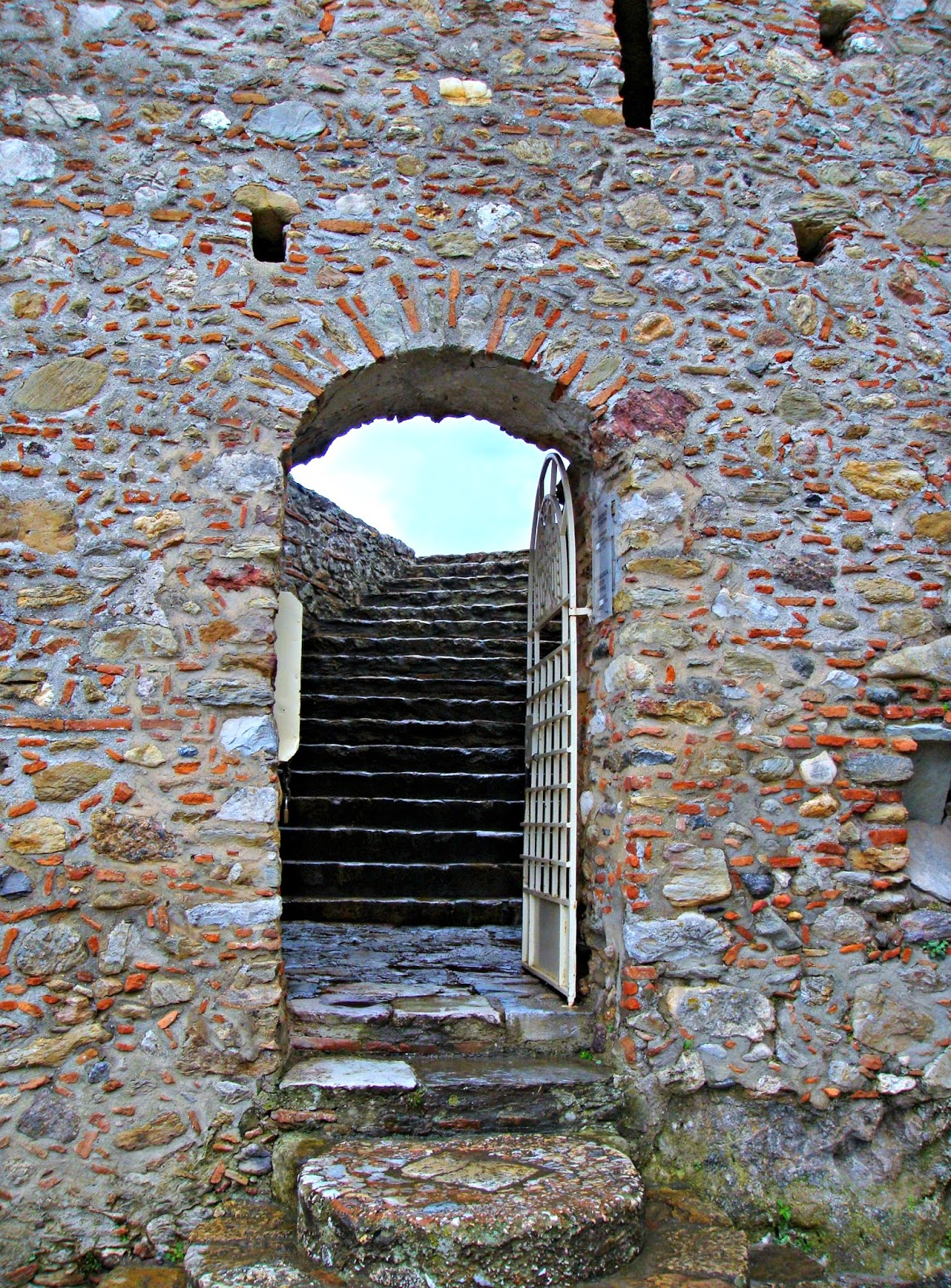Entrance to the fortress of Ancient Mistras
