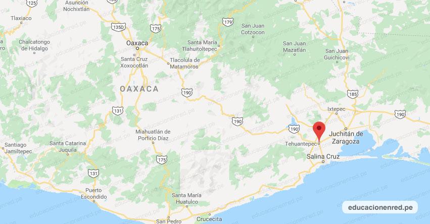 Temblor en México de Magnitud 4.1 (Hoy Jueves 09 Julio 2020) Sismo - Epicentro - Tehuantepec - Oaxaca - OAX. - SSN - www.ssn.unam.mx