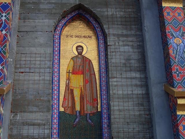 Jedna z ikon w cerkwi na Wesołym Cmentarzu