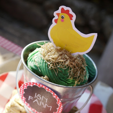 Barnyard Birthday Party | DIY Farm Animal Cupcakes