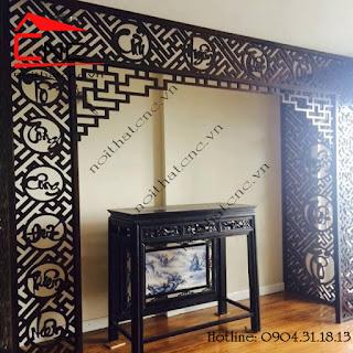 www.123raovat.com: Công dụng của vách ngăn gỗ phòng thờ, vách ngăn bàn thờ