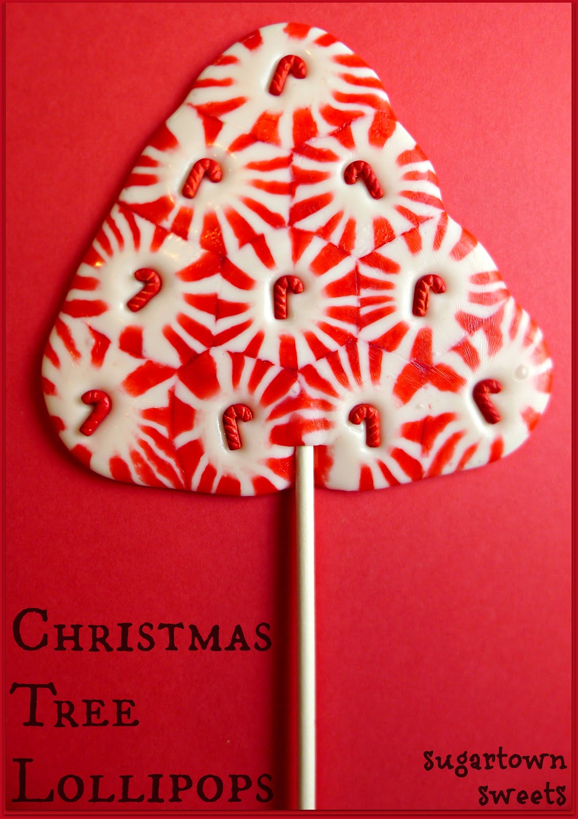 Sugartown Sweets Christmas Tree Lollipops