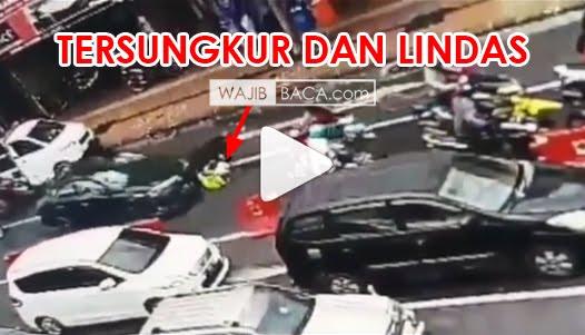 Polisi Kejar Bandar Narkoba Hingga Jatuh Terlindas Mobil, Lihat Videonya