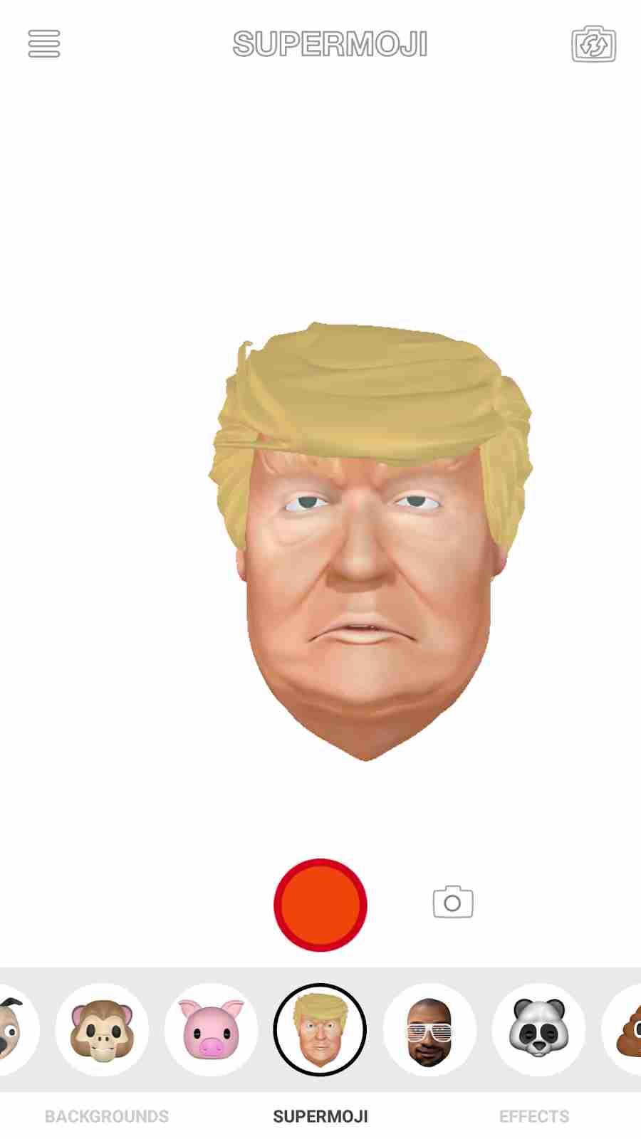 The Apple iPhone X Animoji President Donald Trump Emojis