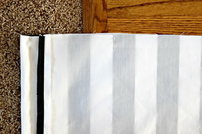 how to make a lined curtain panel