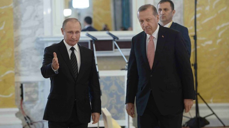 """Η προσέγγιση του Πούτιν με τον Ερντογάν ανησυχεί την Ουάσιγκτον: """"Καζάνι"""" η Μεσόγειος"""
