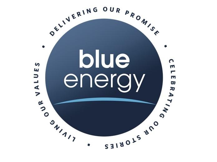 Blue Energy Logo...V Energy Logo