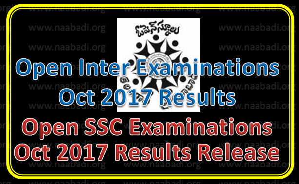 Open Inter / Open SSC Examinations Oct,2017 Results Released