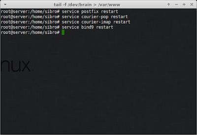 Kemudian restart service postfix, courier dan bind9 nya