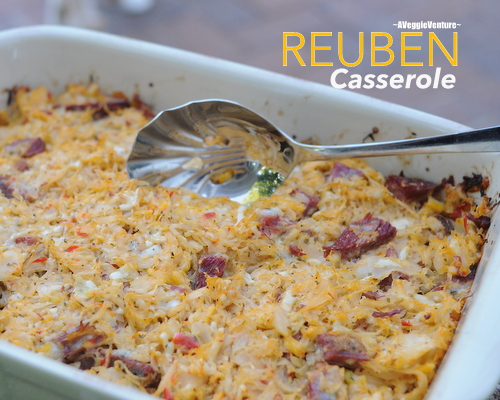 Reuben Casserole ♥ AVeggieVenture.com, great for leftover corned beef, quick, easy & very tasty.