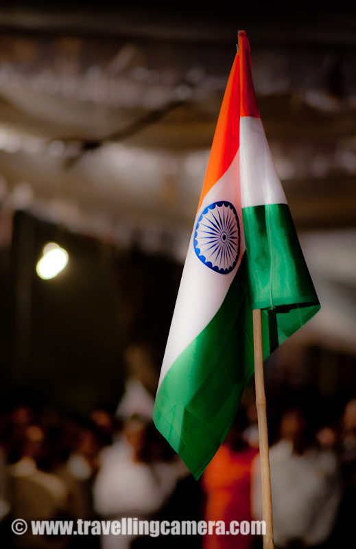 Happy Independence Day to all INDIANS !!! -The proud moment has come again and all Indians should pledge about betterment of our country ! This is the day when all of us should give some time to think about our country and pledge about doing something right, which make our country better !!!Vande Mataram !!! Tricolor of Indian Flag, which gives some sort of energy even at a quick glance. This photograph was shot during Anna's Anti-Corruption move and people around this flag were most energetic among the whole crowd !!!15th August is a very proud day to celebrate our independence... All Indians must celebrate this day as we celebrate other festivals like Diwali, Eid, Christmas etc... I remember school days when we used to spend whole day in Schools, doing some activities like singing patriotic songs, playing different shows, dance performances and finally sweets distribution !!!Tricolor looks amazing on India Gate !!!Here is one request from my side to avoid corruption and don't bribe people to get your things done in short time. We all should move with Anna for Anti-Corruption in India !!!