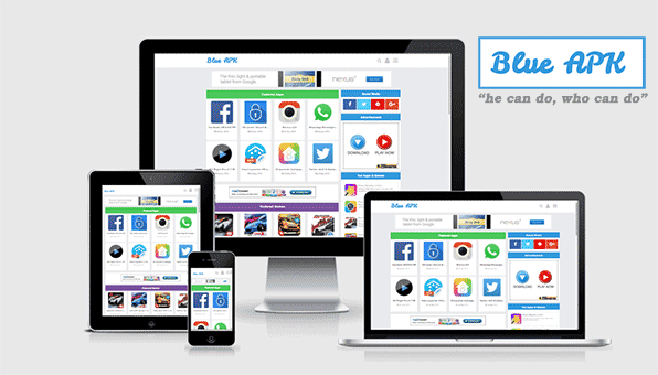 Blue APk | Google AdSense Friendly Blogger Template