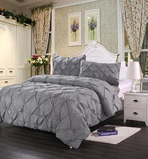 Homehug 1800 Pinch Pleat Puckering Comforter Set