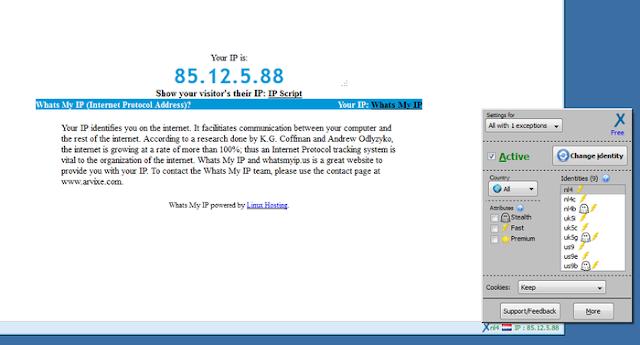 تحميل اضافة فتح المواقع المحجوبة وتغيير الاي بي لمتصفح فيرفوكس anonymoX 2.5.2