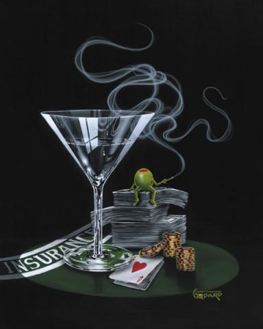 Money Roll Painting by Michael Godard |Micheal Godard Art