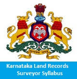 Karnataka Land Records Surveyor Syllabus