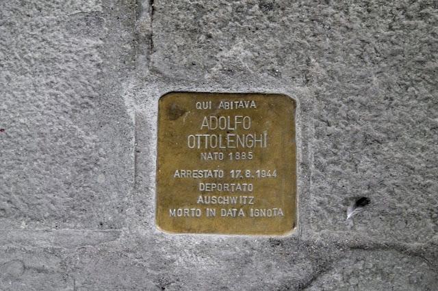 Stolperstein to Adolfo Ottolenghi, Strada Nova, Venice