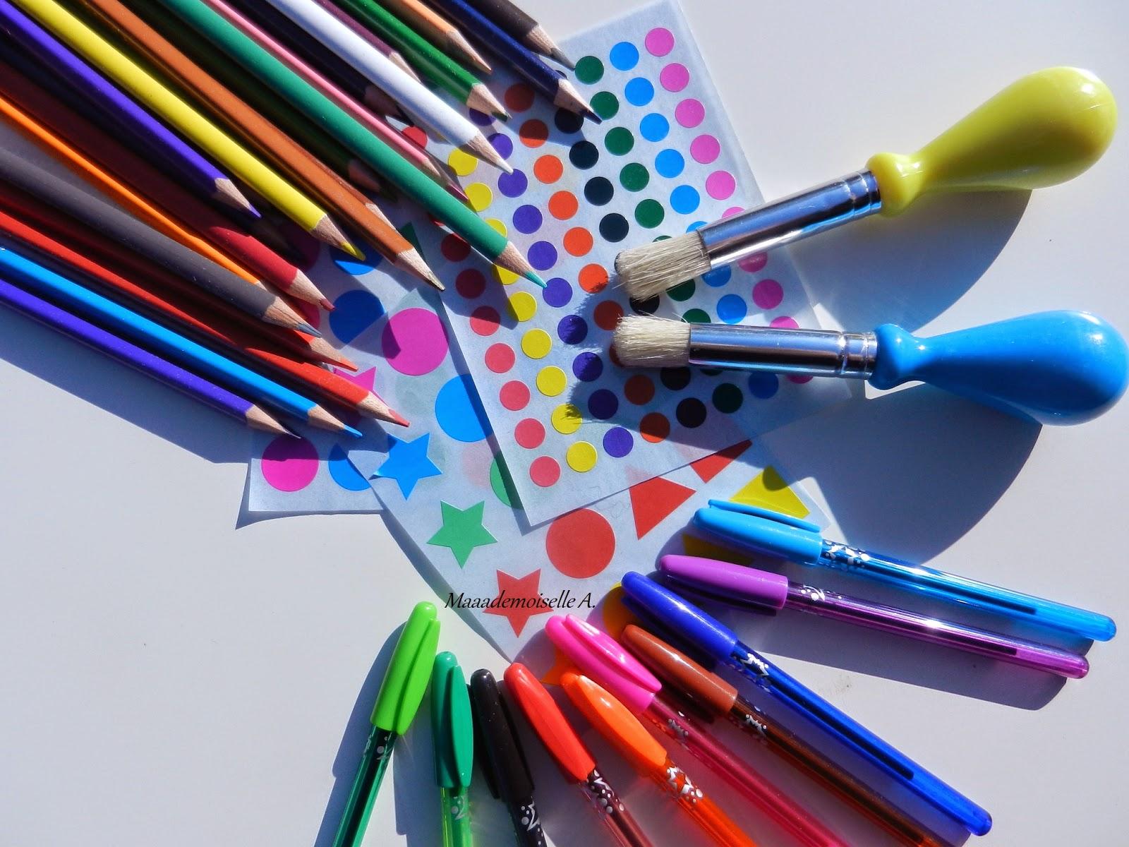 Matériel activités créatives