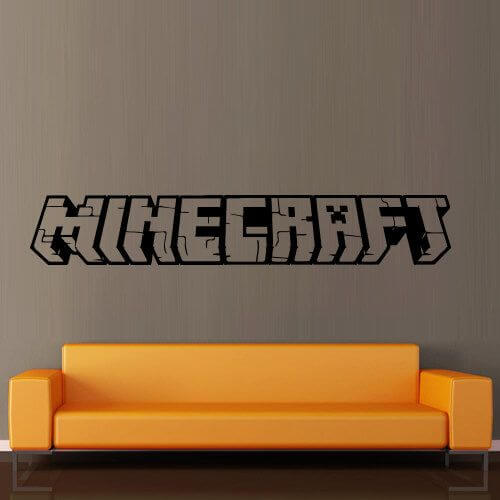 Minecraft Bedroom Stickers or Decals Decorative Design. 10 Creative Ways Minecraft Bedroom Decor Ideas In Real Life
