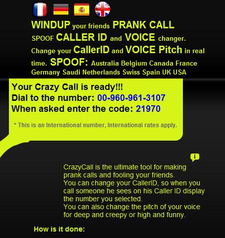 Spoofing phone numbers