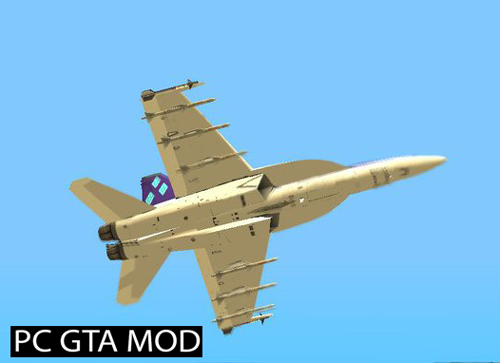 Free Download FA-18E Rarity Mod for GTA San Andreas.