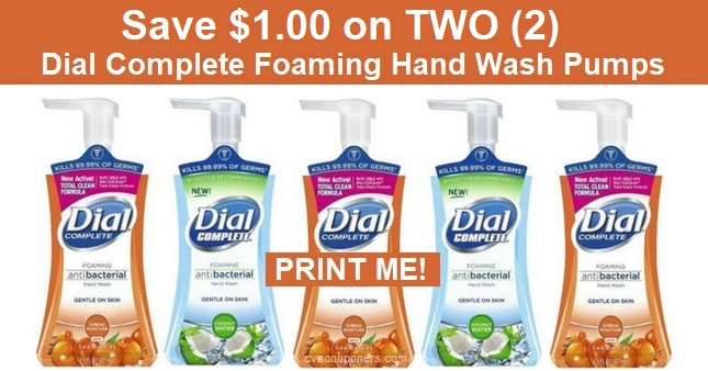 Dial Hand Wash Coupons | Save $1.00/2 - Print Now!