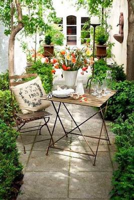 muebles para jardines pequeños